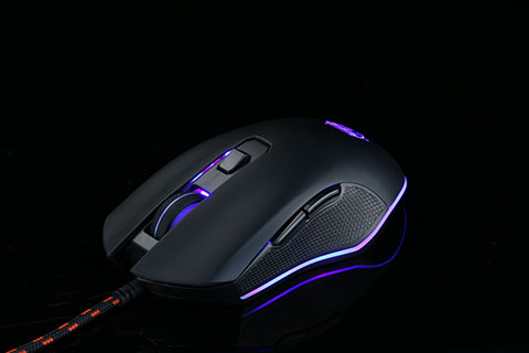 6 Button Wired RGB Gaming Mouse, Lighting Effect. Macro Software