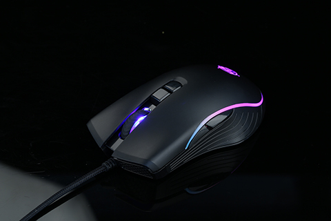 Premium Wired Gaming Mouse, Running RGB, High-performance sensor.