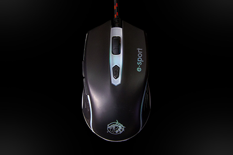 6 Button Wired Gaming Mouse, Customizable RGB,  Breathing Lighting Effect