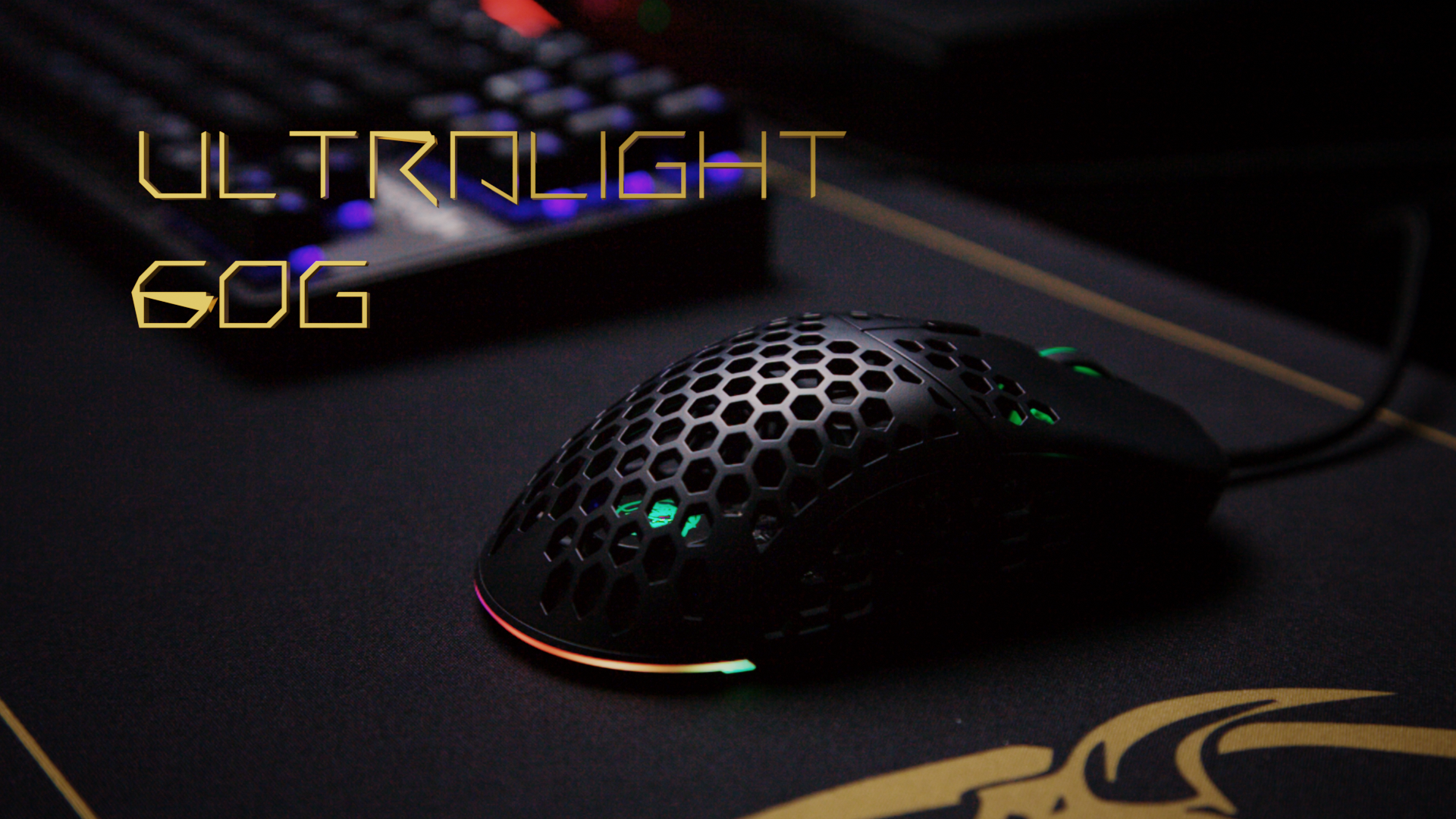 Only 60 grams with drag-free flexible cable. Make your mouse movement quick as funk.
